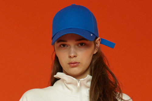 X buckle cap (blue)