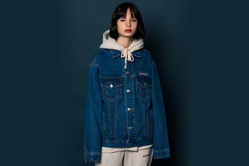 [Sold out]Nametag Denim Jacket (BLUE)