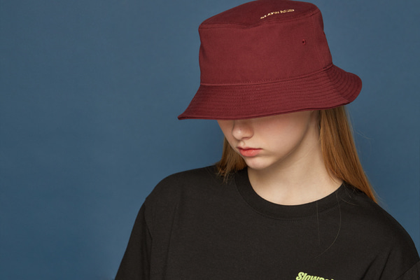 SLOWACID Bucket Hat (BURGUNDY)