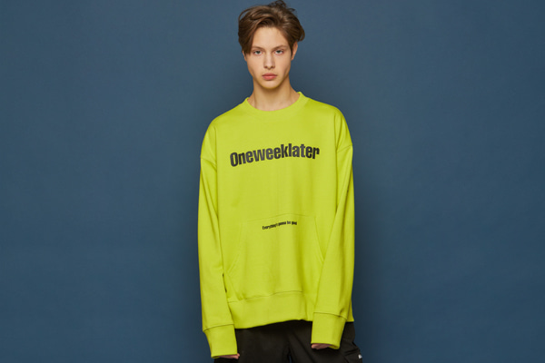 Pocket Sweatshirt (LIME)