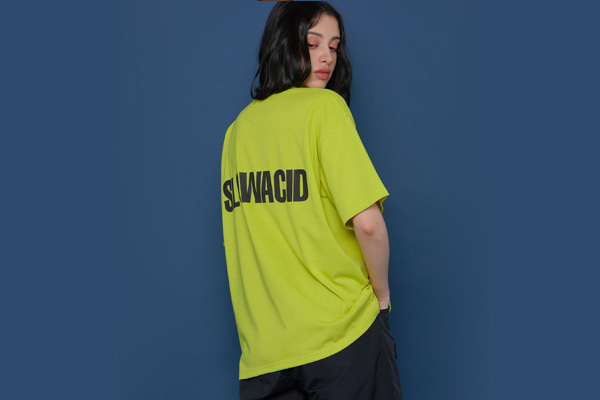 [Sold out]Back Logo Short-T (LIME)