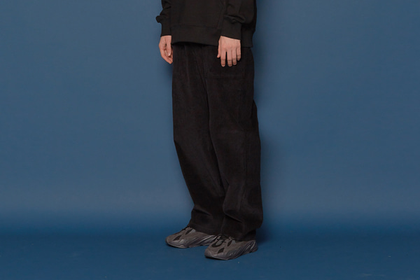 Wide Corduroy Pants (BLACK)