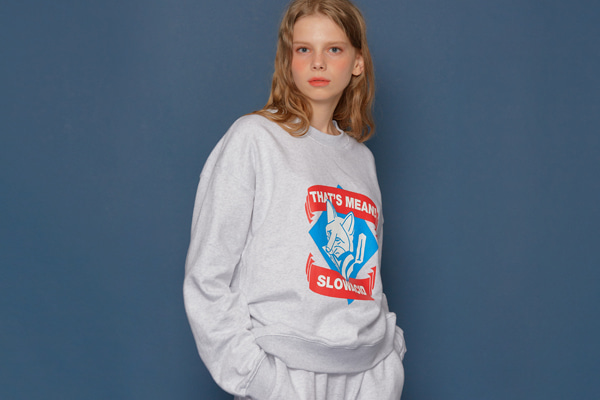 Fox Logo Sweatshirt (PALE MELANGE)