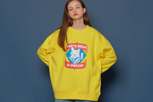 Fox Logo Sweatshirt (YELLOW)