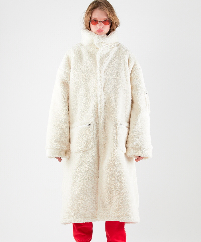 Boa Fleece Long Parka (IVORY)